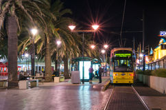 Tram at Moseley Square, Glenelg Stock Photo