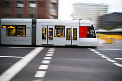 Tram in motion blur Royalty Free Stock Photos
