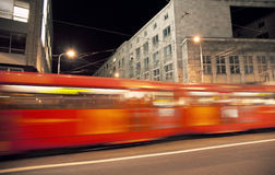 Tram in motion Stock Photos