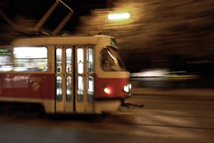 Tram in motion Stock Photography