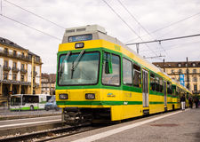Tram in Neuchatel, Switzerland Royalty Free Stock Image