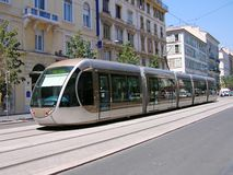 Tram in Nice Royalty-vrije Stock Foto