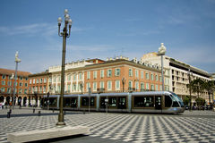 Tram in Nice Stock Images