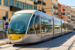 Tram in Nice, France. Stock Photo