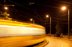 Tram at night Royalty Free Stock Photos