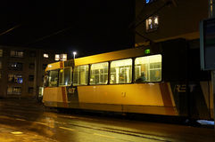 Tram by night Royalty Free Stock Photos