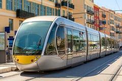 Tram in Nizza, Frankreich Stockfoto