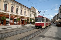 Tram No. 1 in Miskolc Stock Image