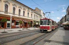 Tram No. 1 in Miskolc stock image