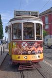 Tram No. 28  in narrow - Lisbon Stock Photos