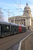 Tram in Nottingham Stock Images