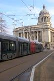 Tram in Nottingham stock images