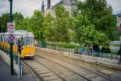 Tram number 2 in Budapest Hungary Royalty Free Stock Images