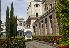 Tram number 3 to Gratosoglio in Milan Royalty Free Stock Photography
