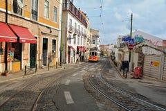 Tram numero 40 a Lisbona Fotografia Stock Libera da Diritti