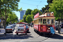 Free Tram On Worcester Street Christchurch, New Zealand Stock Photography - 17382602