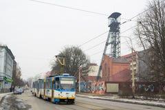 Tram in Ostrava Royalty Free Stock Photos