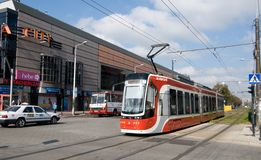 Tram PESA Twist in Częstochowa Stock Photo