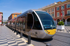 Tram at Place Massena in Nice, France Royalty Free Stock Photo