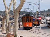 Tram a Port de Soller, Mallorca, Spagna Fotografie Stock Libere da Diritti