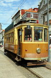 Tram in Porto. Historic tram in the city of Porto, Portugal Royalty Free Stock Images