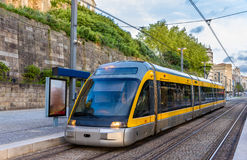 Tram of the Porto Metro system Stock Photography