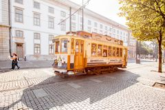 Tram in Porto Royalty Free Stock Photography