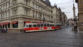 Tram in Praag Royalty-vrije Stock Afbeeldingen