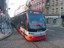 Tram 11 in Praag royalty-vrije stock afbeelding