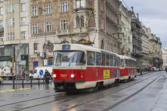 Tram in Praga Stock Photos