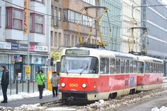 Tram in Prague Royalty Free Stock Photography
