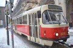 Tram in Prague Royalty Free Stock Images