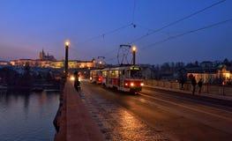 Tram in Prague Royalty Free Stock Photos