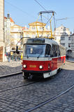 Tram in Prague Stock Image
