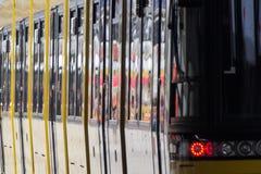Tram, public transportation train in berlin, germany. Detail of tram, public transportation train in berlin, germany Stock Photography