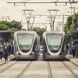 Tram a Rabat Immagini Stock