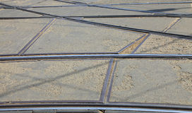 Tram rails Stock Photos