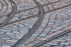 Tram rails Royalty Free Stock Photos