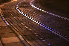 Tram rails in city Stock Photography