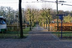 Tram rails in Dutch Open Air Museum in Arnhem, Stock Images
