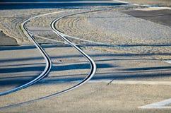 Tram rails stock photography