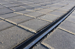 Tram rails. Royalty Free Stock Photos