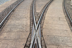 Tram rails Stock Photography