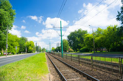 Tram rails Royalty Free Stock Photography
