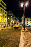 Tram ride by night Stock Photography