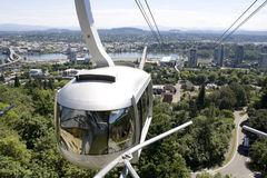 Tram ride portland oregon. Nice tram ride in Portland Oregon Stock Photos