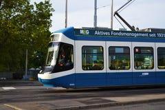Tram ride in switzerland Royalty Free Stock Image