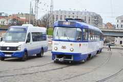 Tram in Riga. Stock Photography