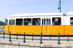 City of Budapest tram royalty free stock photography