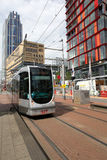 Tram in Rotterdam Royalty Free Stock Photography